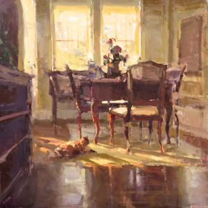 """Anne Blair Brown - """"Sunny Disposition"""" - 24"""" x 24"""" - Oil"""