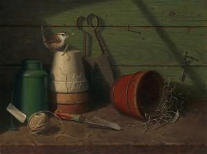 "Annie Kraft Walker - ""In the Potting Shed"" - 18"" x 24"" - Oil"
