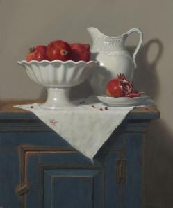 """Annie Kraft Walker - """"White on White"""" - 24"""" x 20"""" - Oil"""