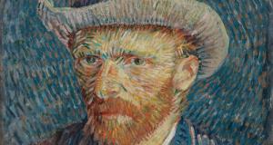skeans - self portrait with gray felt hat 1887