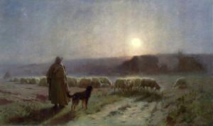 """Evening"" - 41"" x 69"" - Oil  (1885)"