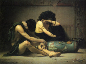 """""""Lamentations Over the Death of the First-Born of Egypt"""" - 38"""" x 51"""" - Oil  (1877)"""