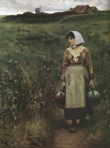"""""""Water Carrier"""" - 56"""" x 44"""" - Oil  (1883)"""