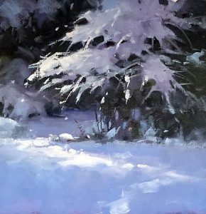 "Beverly Boren - ""Winter's Coat"" - 10"" x 10"" - Oil"