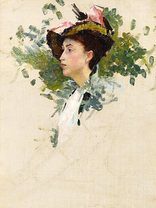"""Study for 'Portrait', Crecy-en-Brie, France"""