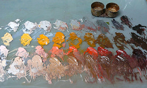 Reilly's figure-painting palette.