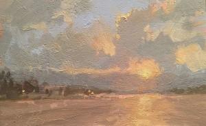 """Canyon Lake Sunset"" - 4"" x 6"" - Oil"