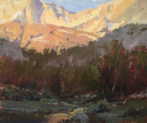 """""""View from Camp"""" - 12"""" x 10"""" - Oil"""