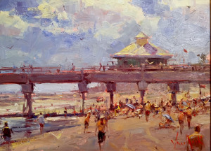 """At the Pier"" - 20"" x 16"" - Oil  (Grand Prize, Lighthouse Art Center Plein Air Show - 2016)"