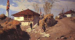 "Vasily Dmitrievich Polenov - ""The Commander's House in Brestovets"" - Oil"