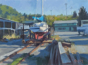 """On the Rails"" - 9"" x 12"" - Oil"