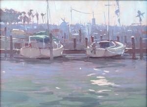 """""""Morning Harbor"""" - 9"""" x 12"""" - Oil"""