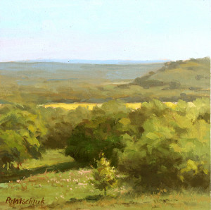 """Hill Country Vista"" - 8"" x 8"" - Oil"