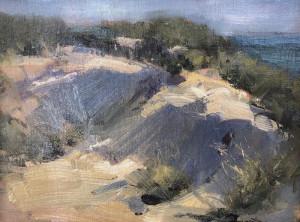 """""""Dunes on the Beach"""" - 9"""" x 12"""" - Oil"""