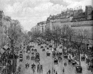 "Camille Pissarro  -  'Boulevard Montmarte'  -  28.75""x 36.25""  -  Oil  -  1897"