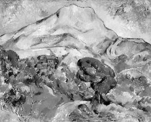 """Paul Cezanne  -  """"Mont Sainte-Victoire""""  -  31""""x 39""""  -  Oil  -  1900"""