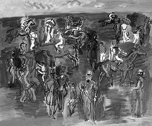 "Raoul Dufy  -  ""At the Races""  -  18.12""x 21.62""  -  1935"