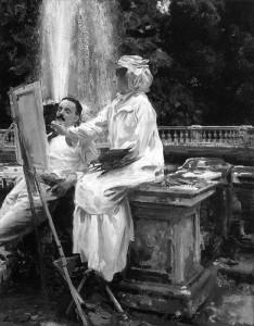 "John Singer Sargent  -  ""The Fountain, Villa Torlonia, Frascati, Italy""  -  28.11""x 22.24""  -  Oil  -  1907"