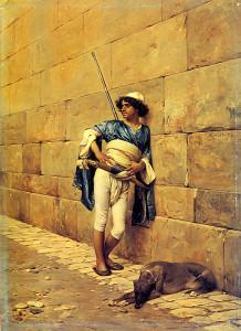 "Charles Brague - La Sentinelle - 11.02""x 8.27"" - Oil - 1876"