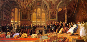 "Jean-Leon Gerome - The Reception of the Siamese Ambassadors at Fontainebleau - 50.39""x 102.36"" - Oil - 1864"