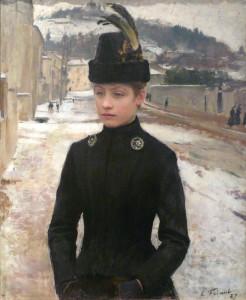 Greys and black on white Emile Friant  (1863-1932)