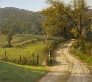"""""""Rural Hideaway"""" - 25"""" x 28"""" - Oil"""