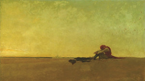 "Howard Pyle - ""Marooned"" - 40"" x 60"" - Oil  (1909)"