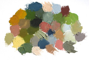 Paint mixtures found in painting.