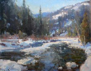 """Kathryn Stats - """"Winter Glass"""" - 9"""" x 12"""" - Oil"""