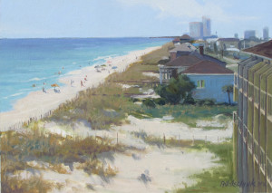 """A Day at the Beach"" (Plein Air) - 9.68"" x 13.38"" - Oil (Unframed) - $1500.00. Christmas Special: $1275.00"