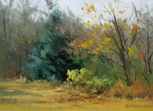 """Along the Creek Bed"" (Plein Air) - 9.75"" x 13.38"" - Oil (Framed: 16"" x 19"") - $1500.00"