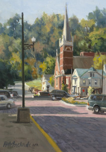 """Maysville Church"" - 8.88"" x 6.25"" - Oil"