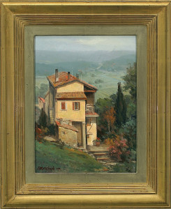 """San Gimignano Overlook"" - 16"" x 12"" - Oil (Framed: 23"" x 18"") - $2700.00. What"