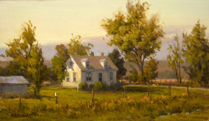 """Summer's Passing"" - 11.75"" x 20.12"" - Oil - (Framed: $2950.00"