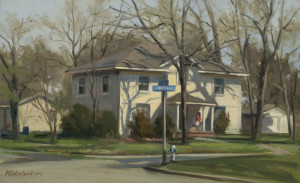 """First and Jefferson"" (Plein Air) - 9.68"" c 15.75"" - Oil"