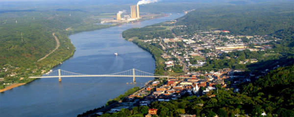 The beautiful town of Maysville, KY located on the Ohio River